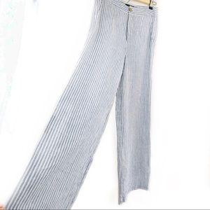Tahari wide legged linen pants